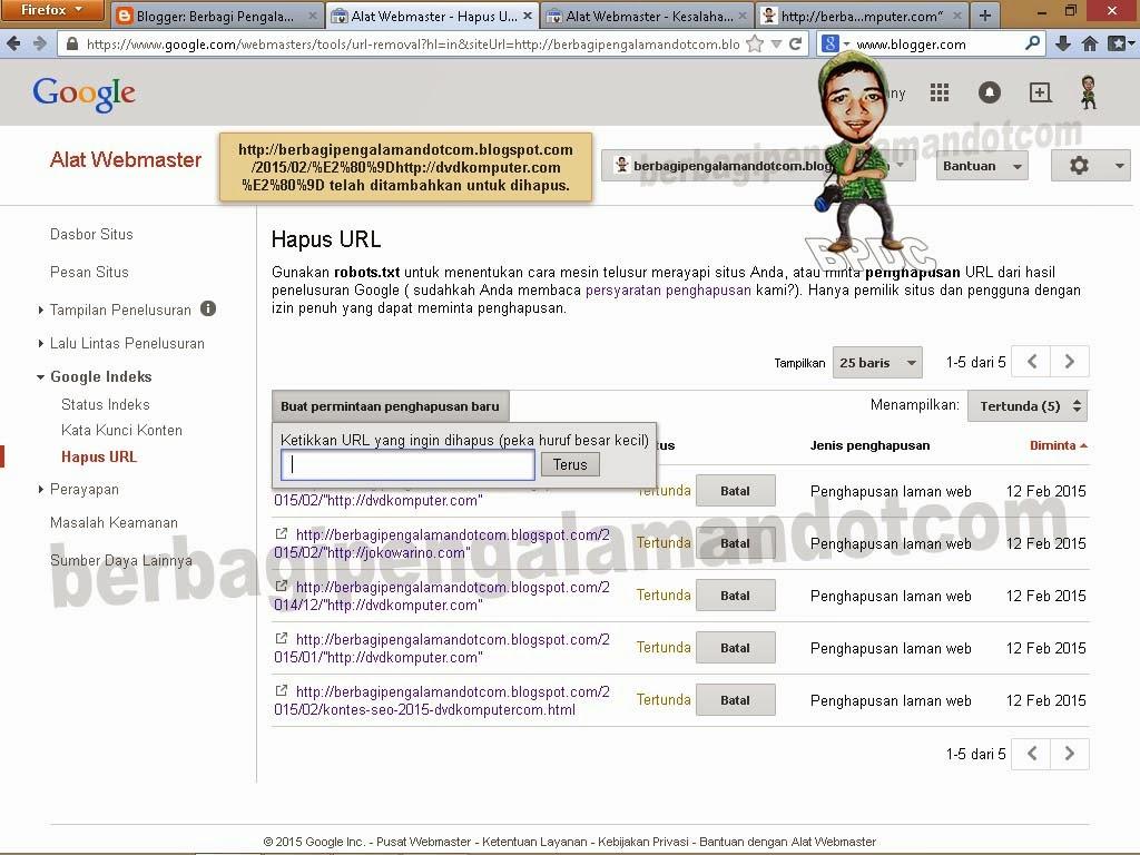 Cara Menghapus URL di Google_Gambar Halaman Google Indeks_Hapus URL