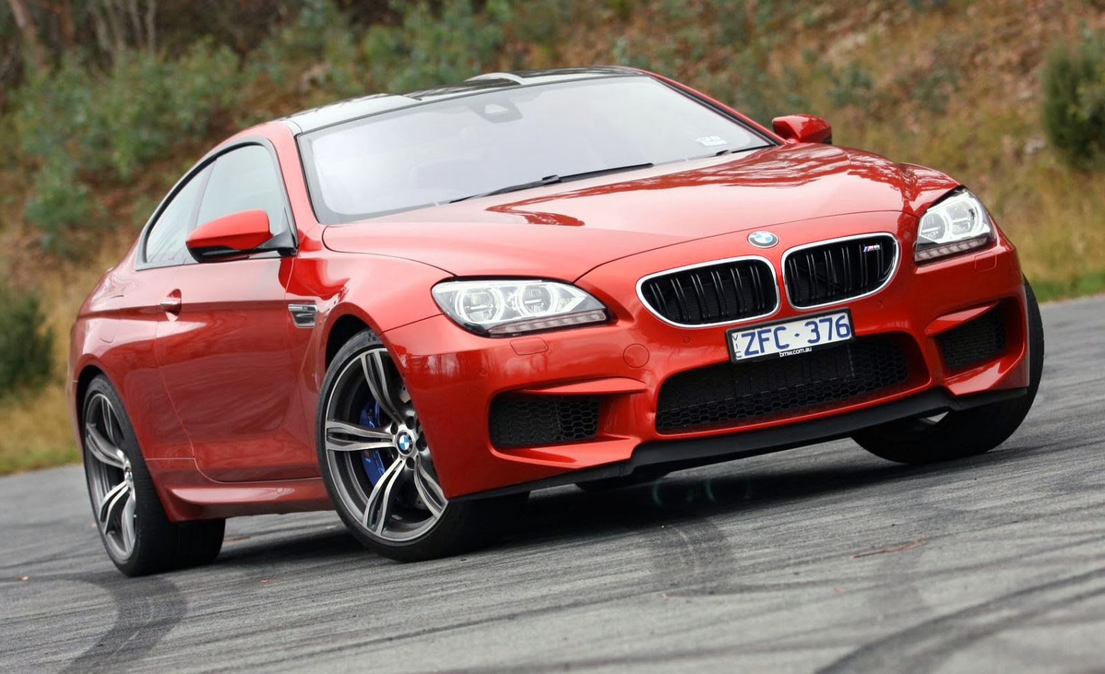 bmw m6 coupe 2014 red   hd wallpaper