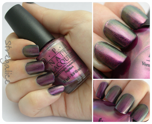 OPI Movin' Out layering swatch duochrome