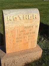 Mary L Williamson Barton Headstone