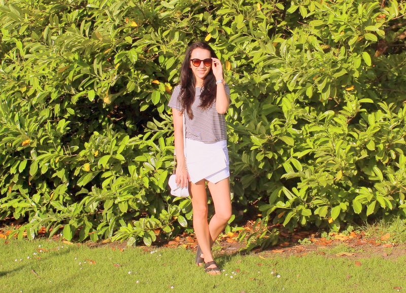 Fashion Blog White Skort Outfit