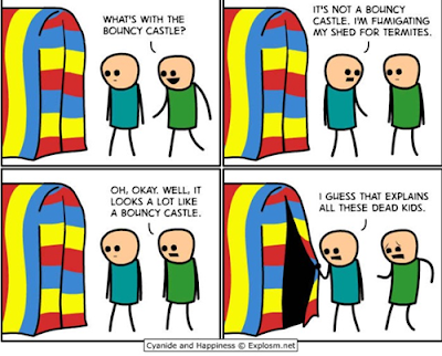 bouncy castle funny comic with dead kids