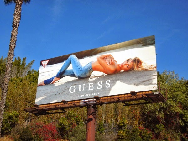 Guess Jeans Danielle Knudson Spring 2014 billboard
