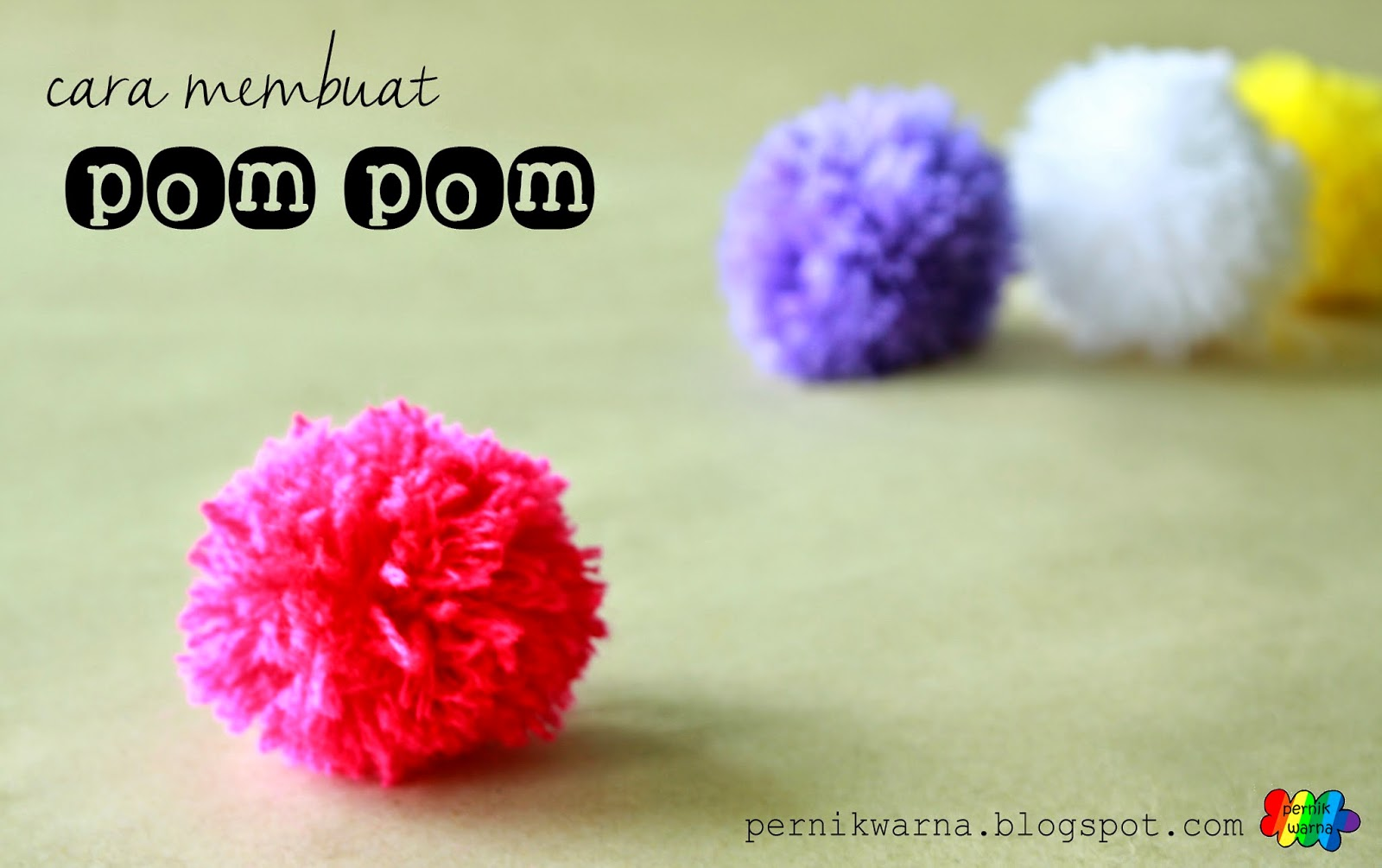 Pernik Warna Cara Membuat Pom Pom