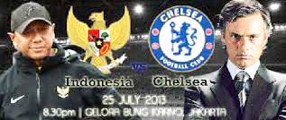 Susunan Formasi Pemain Timnas BNI Indonesia All Star melawan Chelsea Kamis 25 Juli 2013