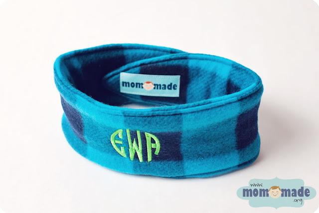 Monogrammed Fleece Ear Warmers by Mom-Made