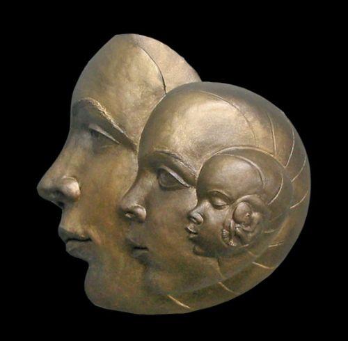 Michael Alfano esculturas de corpos rostos surreais bronze cobre Espiral milagrosa