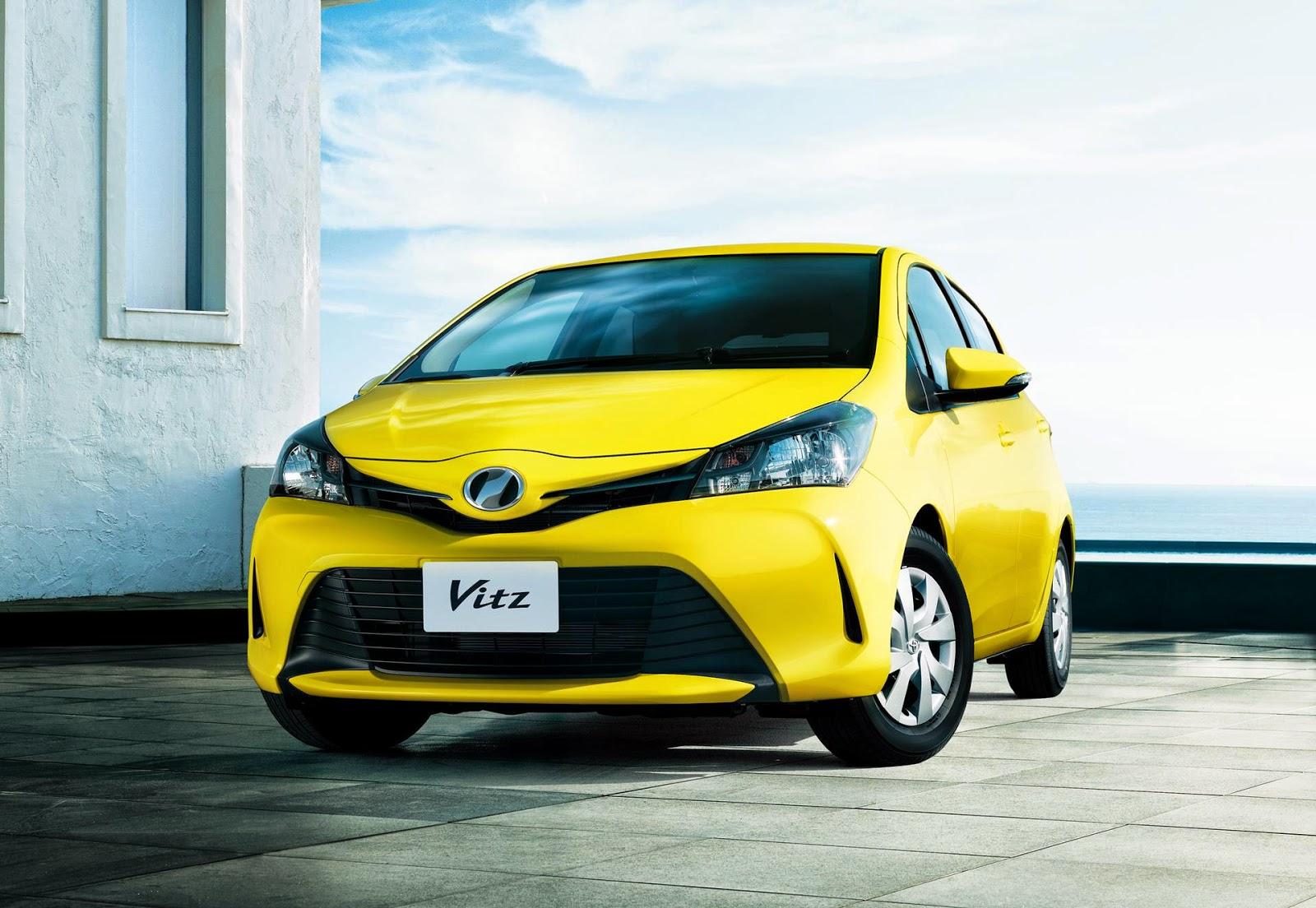 Yellow Toyota Vitz