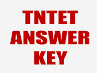 TN TET Answer Key 2013