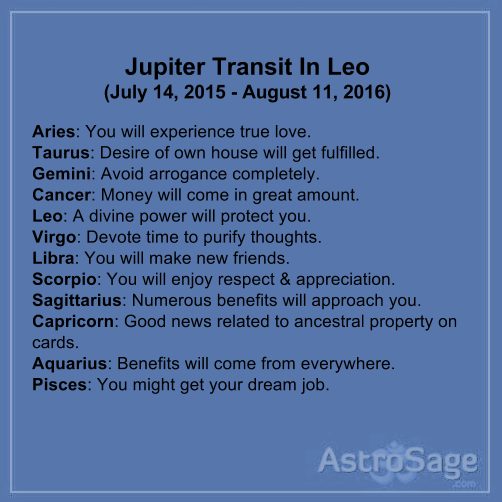 Jupiter transit in Leo will affect your zodiac sign.