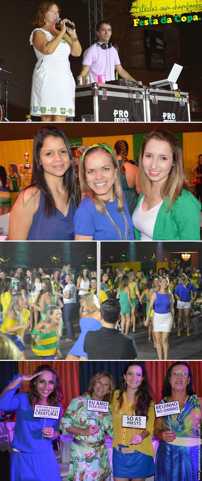 Festa da Copa - Estrelas com champanhe, look, copa, brasil, moda, estilo, fashion, style, estilo
