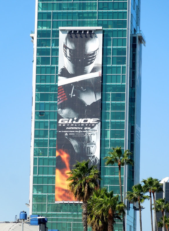 Giant GI Joe Retaliation Snake Eyes billboard