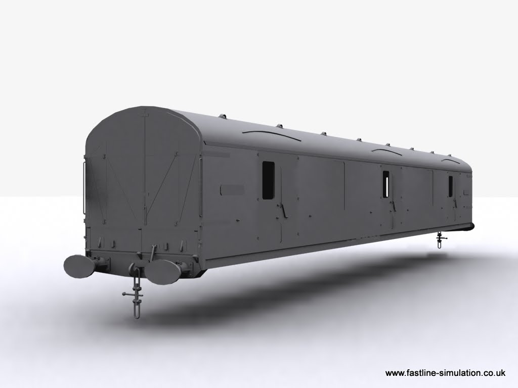 Fastline Simulation: Body of a General Utility Van (GUV) for RailWorks