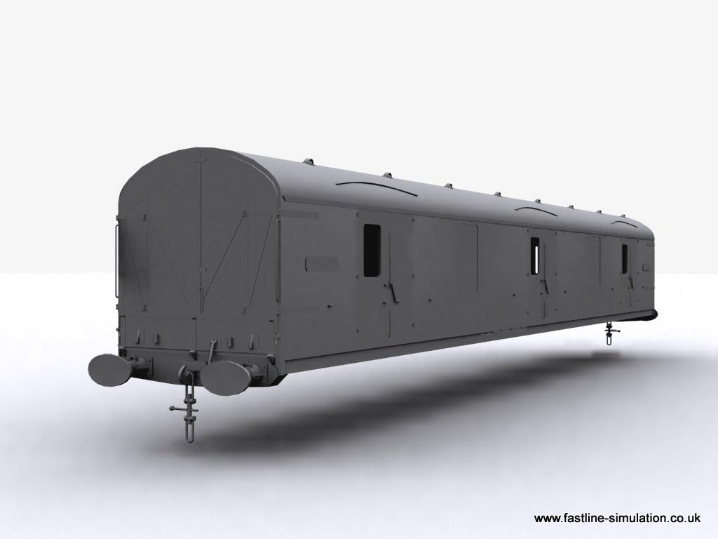 Fastline Simulation: Body of a General Utility Van (GUV) for RailWorks