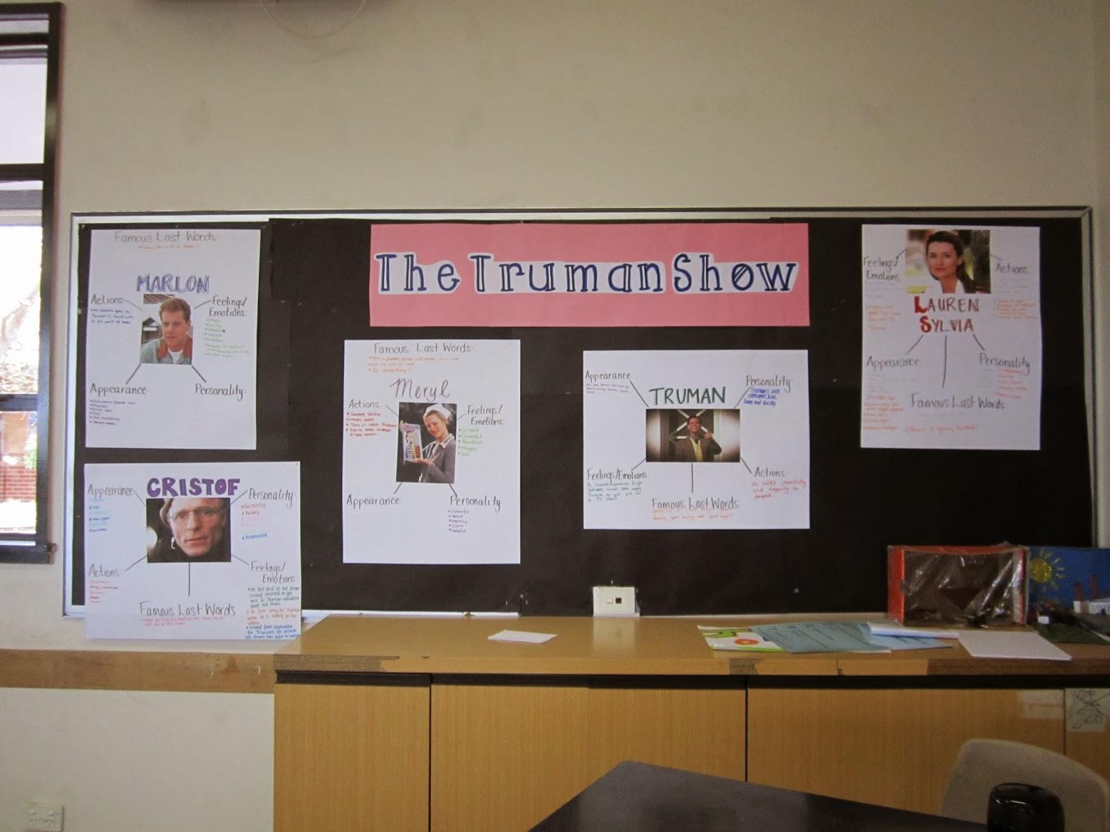 Truman show character essay