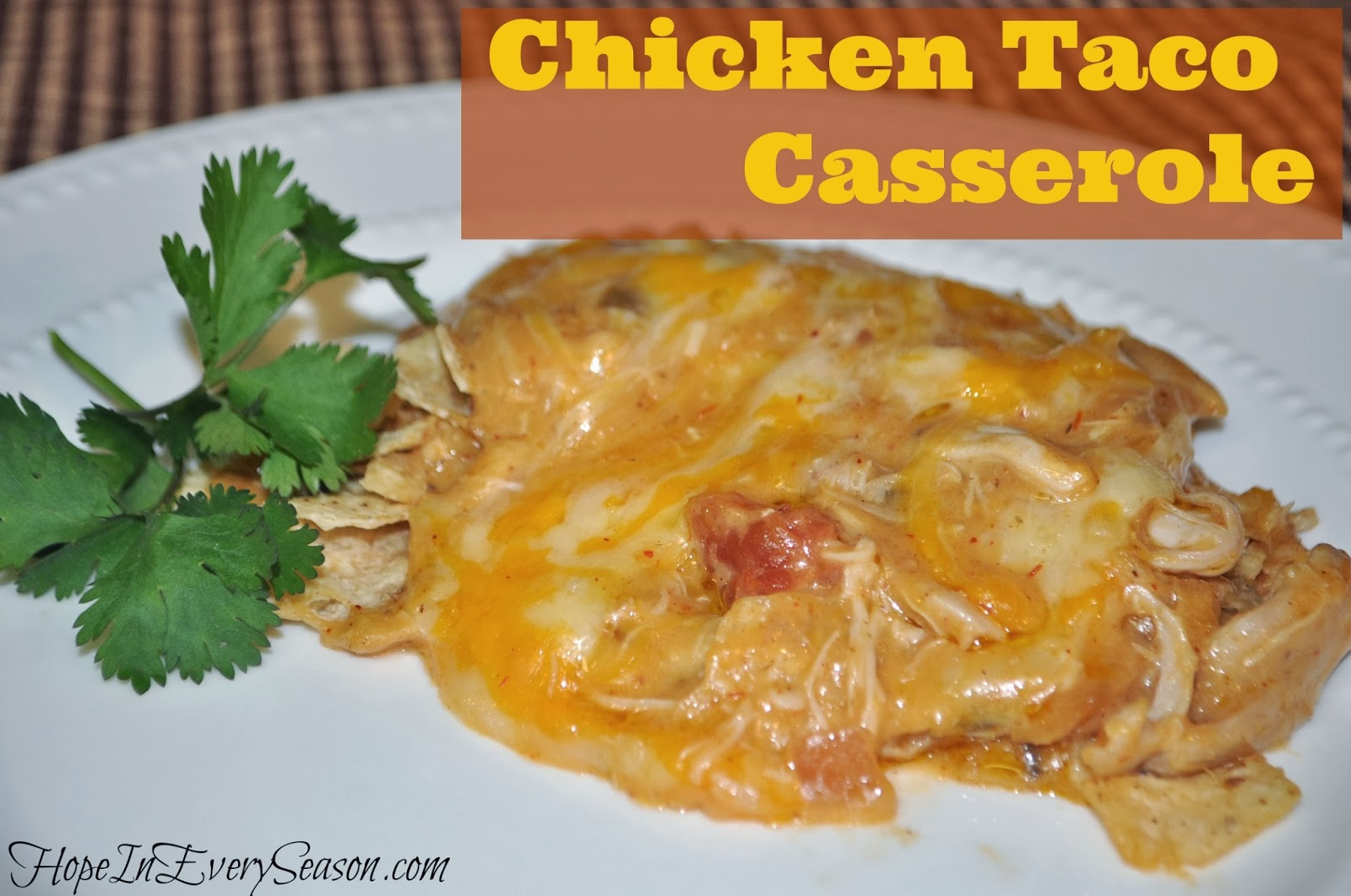chicken taco casserole 5 boneless skinless chicken breast halves ...