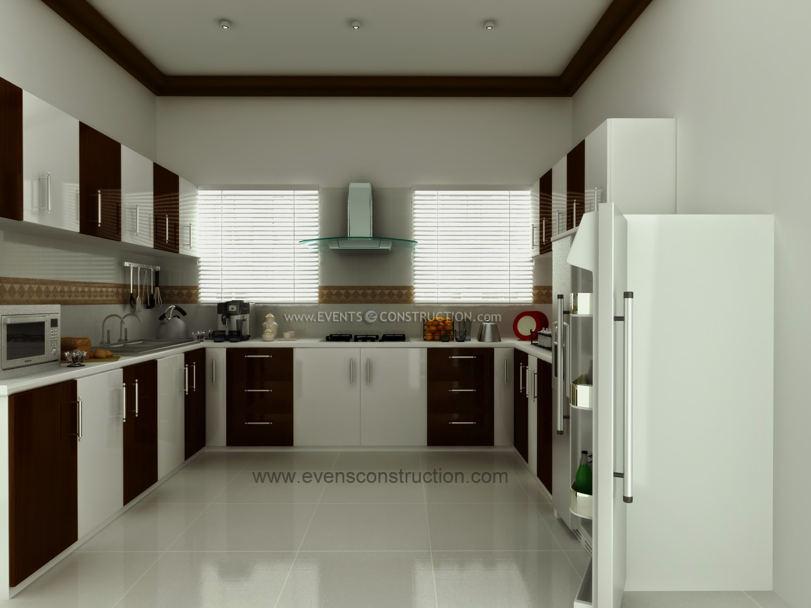 Evens construction pvt ltd modern kerala kitchen interior for New kitchen designs in kerala