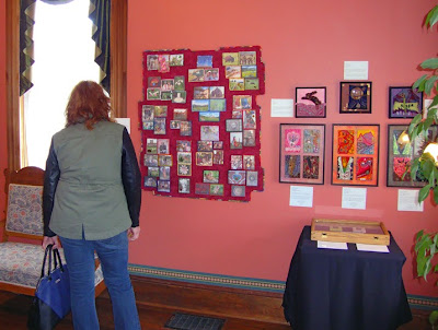 Beadlust - exhibition of Robin Atkins bead embroidery at La Conner Quilt Textile Museum
