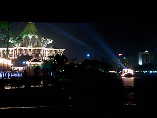 sambutan hari malaysia, waterfront malaysia, waterfront sarawak, waterfront