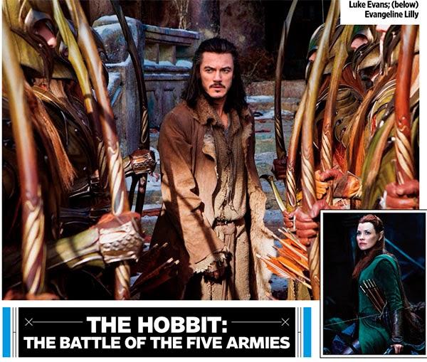 """Bardo y Tauriel en """"El Hobbit: La Batalla de los Cinco Ejercitos"""""""
