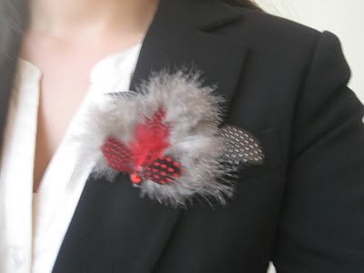 Tutorial DIY Broche de plumas / Feather brooch / Broche de plumes