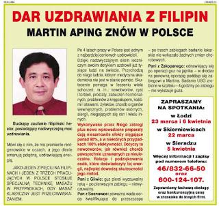 Dar uzdrawiania z Filipin - Martin Aping znów w Polsce