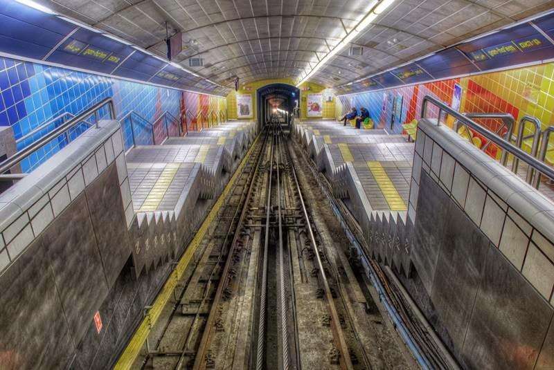 Carmelit funicular | Haifa, Israel