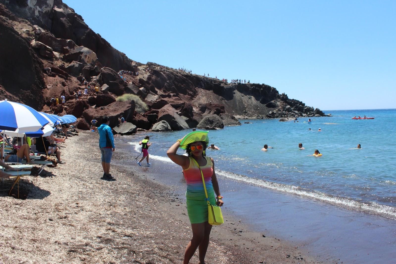Red Beach Akrotiri, Santorini - DocDivaTraveller