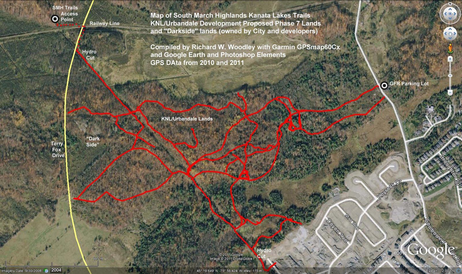 Richards GPS Trail Maps South March Highlands Kanata Lakes Trails
