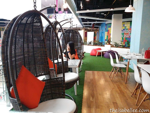 Hanging chairs at Tossed Jaya Shopping Centre