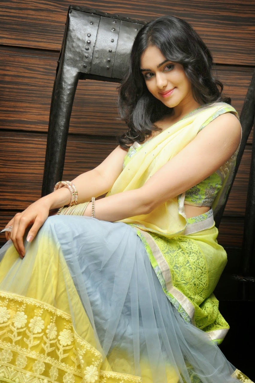 Adah Sharma Latest Sexy Half Saree Stills