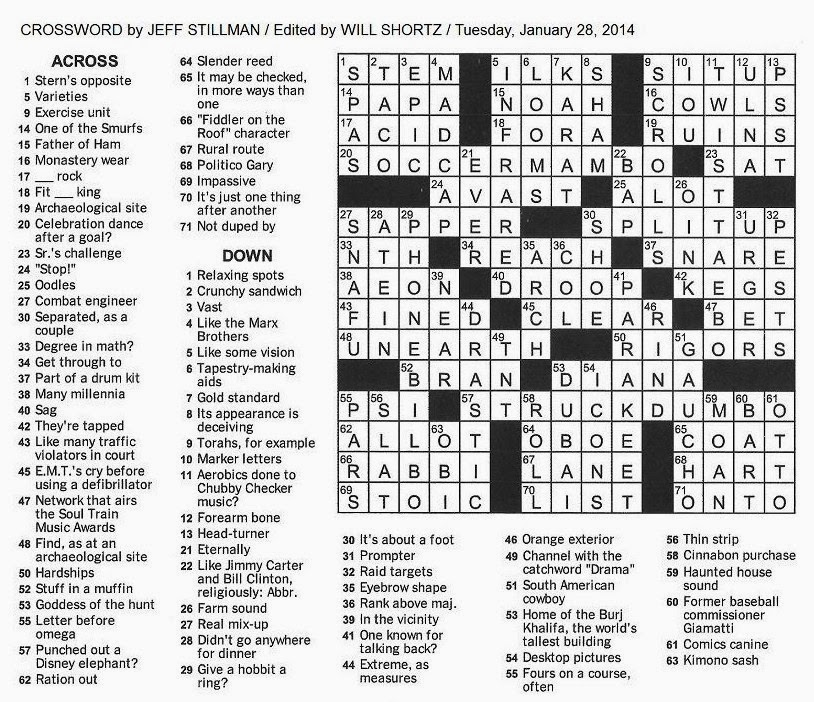 strip of material crossword clue