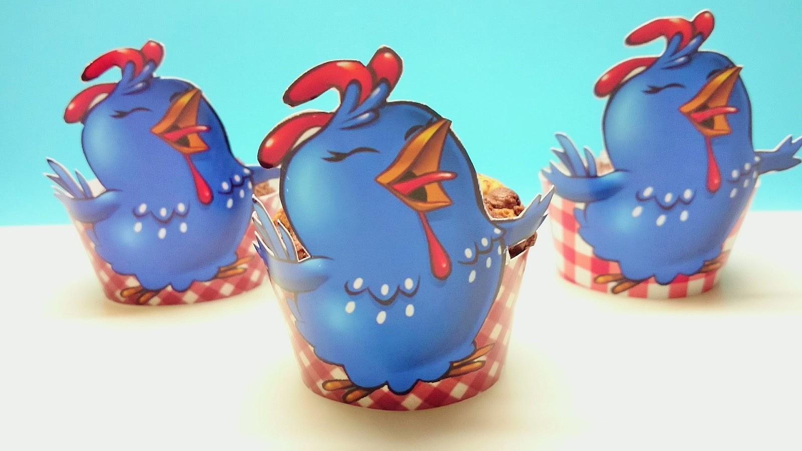 Aparador Madera Acacia ~ Artesanato Viviane Magalh u00e3es Como fazer um Porta Cupcake Galinha Pintadinha do jeito mais fácil