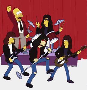 Ramones Desenho Simpsons