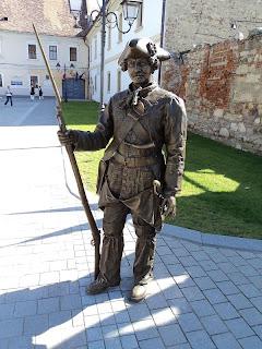 Citadel Alba Carolina- Bronze Soldier (sentinel)