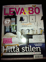 Mitt hem i tidningen Leva &amp; bo/Expressen. nr 45/nov 2011.