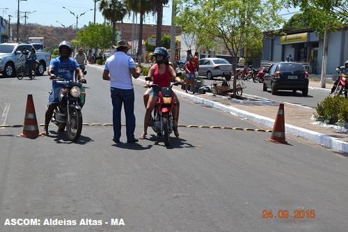 Aldeias Altas promove atividades alusivas à Semana Nacional de Trânsito