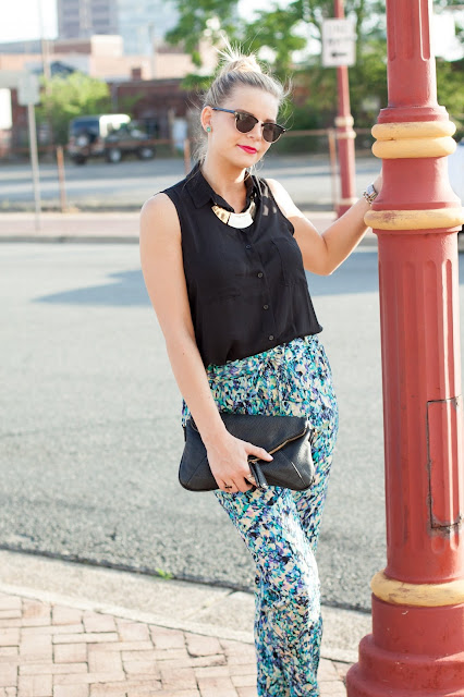 Watercolor Trousers via Darling Cashmere