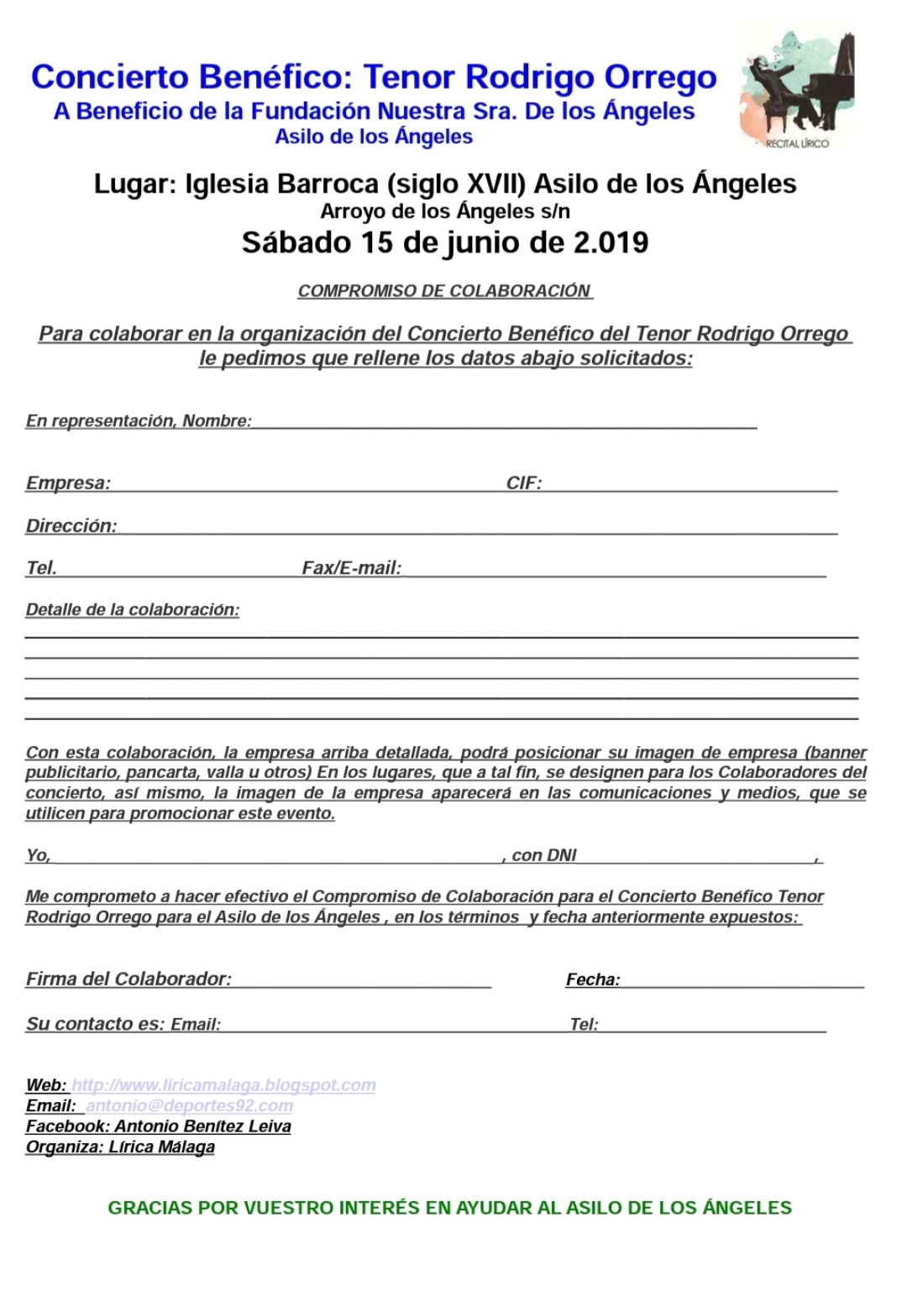 Documento para empresas, particulares y empresas colaboradoras