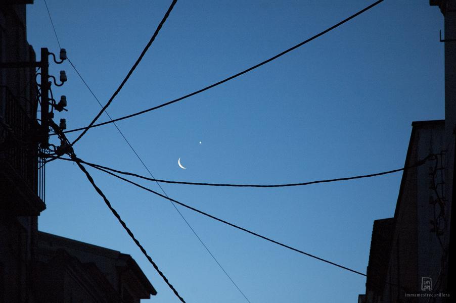 Fotografia nocturna després d'una ventada @Imma Mestre cunillera
