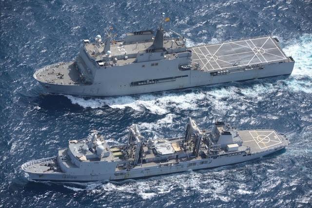 EUNAVFOR flagship SPS Galicia and FS Var
