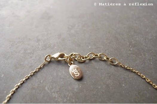 Stalactite bracelet plaqué or triangles