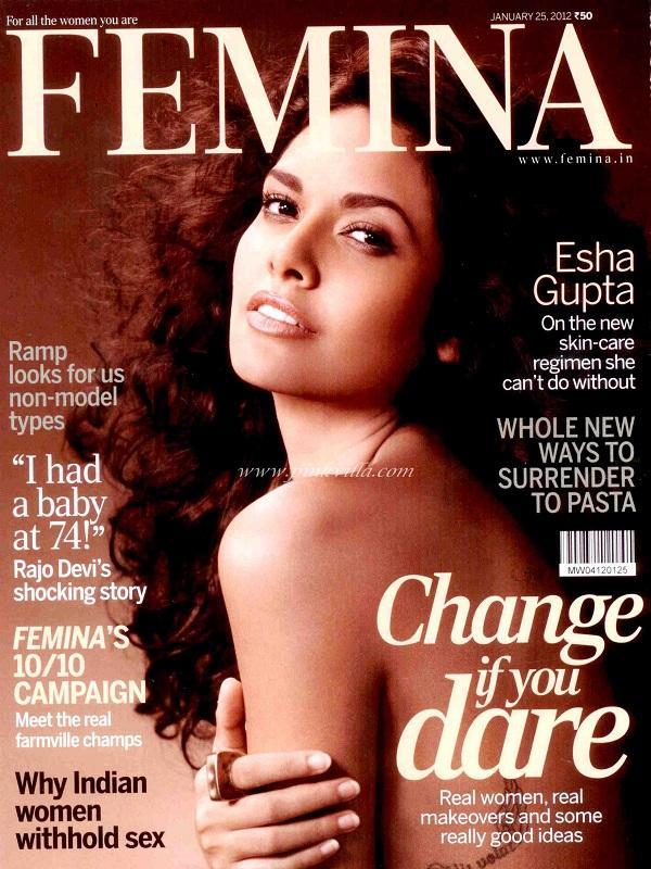 Esha Gupta for the cover of Femina India