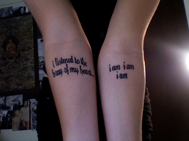 So it 39s a tattoo and it 39s reproducing a quote from The Bell Jar