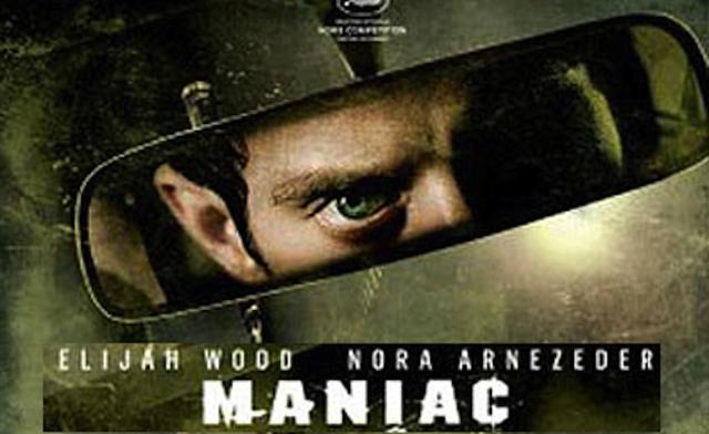 Maniac banner Elijah Wood's eyes in the rearview mirror