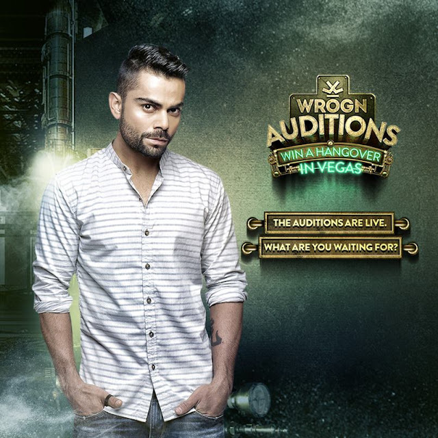 Brand ambassador of the brand Wrogn, cricketer Virat Kohli hosts the Wrogn auditions where 1 lucky winner could win a trip to Las Vegas