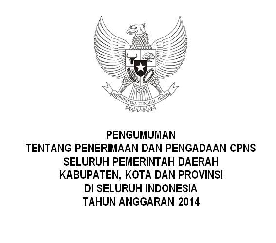 Pengumuman Pengadaan CPNS Seluruh Kabupaten Kota di Indonesia