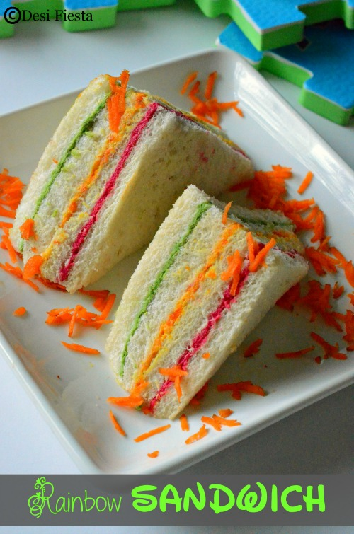 tri color sandwich recipe