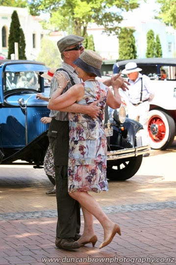 Public display of affection, dancing in the Hastings Mall photograph
