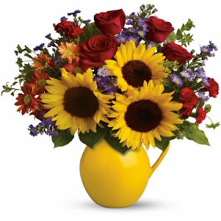 Send Flowers in a Gift with the Teleflora Sunny Day Pitcher Bouquet